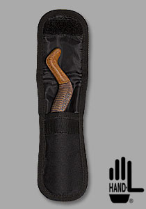Hand-L shown in holster